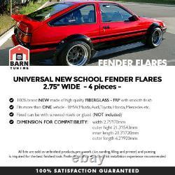 Jdm Fender Flares Arc De Roue Universel Set 2.7 Large 70mm 4psc