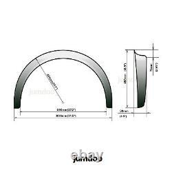 Jumdoo Torches Universelles D'aile Legend Large Arche De Roue Du Corps Abs 3.5 90mm 2pcs