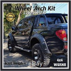 Kut Serpent Roue Large Arches Fender Flares Pour Mitsubishi L200 B40 ML Mn 2005-15