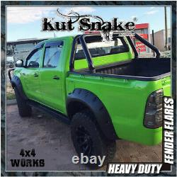 Kut Snake Roue Arches Fender Flares Pour Toyota Hilux 2005-11 Monster Wide