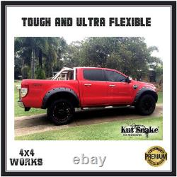 Kut Snake Wheel Arches Fender Flares Pour Ford Ranger Px2 Px3 15-on Monster Wide