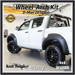 Kut Snake Wheel Arches Fender Flares Pour Isuzu D-max 2012-20 Large