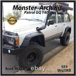 Kut Snake Wheel Arches Fender Flares Pour Nissan Patrol Gq Y60 87-98 Monster Wide