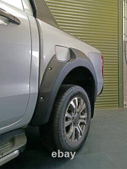 Matte Black Raptor Look Wide Arch Fender Kit Ford Ranger T7 2016-2019
