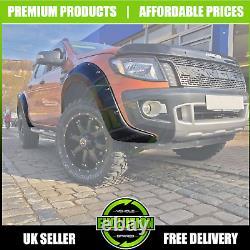Matte Black Wide Body Wheel Arch Fender Flare Oem Pour S'adapter Ford Ranger T6 2011-16