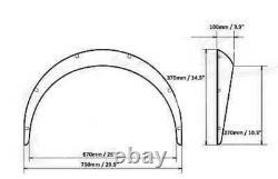 Mazda Mx5 90-97 Mk1 4 Pièce 60mm Large Arch Fenders Flares Avant + Miata Arrière