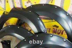 Pour Ford Ranger T8 Wheel Arch Étendues Insuccion Large Avec Rivet Park Assist