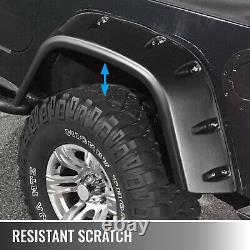 Pour Jeep Wrangler Tj 7 Wide Pocket Style Protector Fender Flares 6pcs 97-06