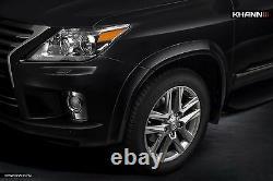 Pour Lexus Lx570 2012-2015 Khann Wide Cordy Wheel Arch Extender Fender Flares