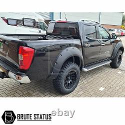 Pour Nissan Navara Np300 2015+ Wide Body Wheel Arches Fender Flares Riveted Style