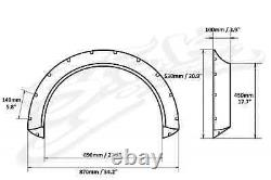 Universal Fender Flares Wide Body Kit Wheel Arches 100 MM 3.9 Inch Abs Plastique