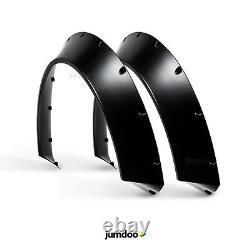 Universal Jdm Fender Flares Concave Sur Des Arcs De Roue De Corps Large Abs 90mm 2pcs
