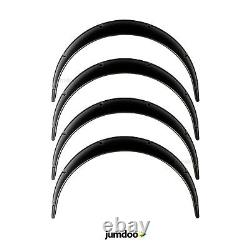 Universal Jdm Fender Flares Large Roue De Carrosserie Arc Extensions Abs 2.75 4pcs
