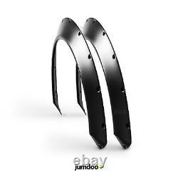 Universal Jdm Fender Flee Flains Concave Sur Une Grande Roue Corporelle Arches Abs 1,5 2pcs