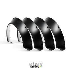 Universal Jdm Fender Torches Concave Sur Larges Arches De Roue Du Corps Abs 110mm 4pcs