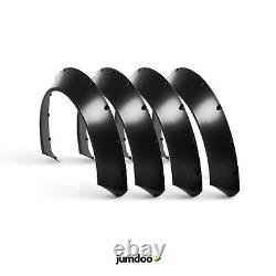 Universal Jdm Fender Torches Concave Sur Larges Arches De Roue Du Corps Abs 70mm 4pcs