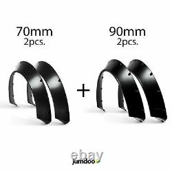 Universal Wide Wheel Arches Fender Flares Concave Large Body Kit 4pc 70mm + 90mm