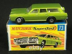 Vhtf Matchbox Mb73-a1 Mercury Commuter Roues Et Arches Larges + Boîte De Type G